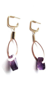 Nineteenth Amendment, Ruby Dávila-Rendón, Ruby Dávila-Rendón, Ruby Davila Gala Earrings in Amethyst, Jewelry