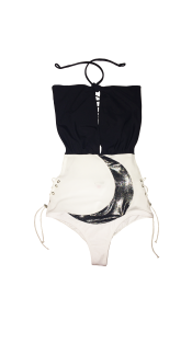 Nineteenth Amendment, Rosina Mae, Lunar, Crescent Moon-Suit Monokini, SWIM