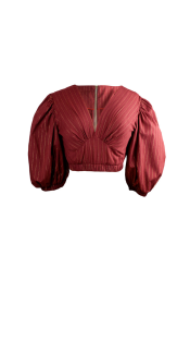 Nineteenth Amendment, Bohn Jsell Collections, Solstice Delivery One, Plunging Crop Blouse, SHIRT