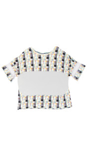 Nineteenth Amendment, Aimee Kent, Twisted City Tartan, Panelled Print Color Block T-Shirt, SHIRT