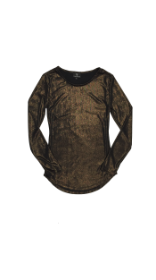 Nineteenth Amendment, VARYFORM, Glow, Luna Bronze Long Sleeve Top, SHIRT