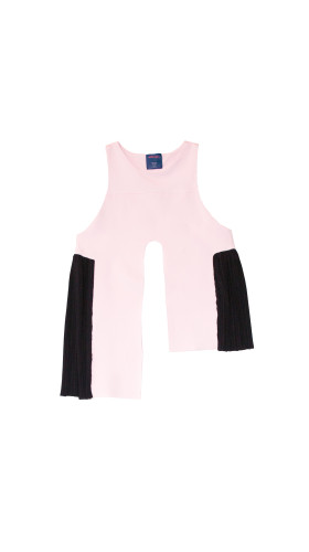 Nineteenth Amendment, Allergic, Rupture, Harold Asymmetrical Top in Pink, TOP