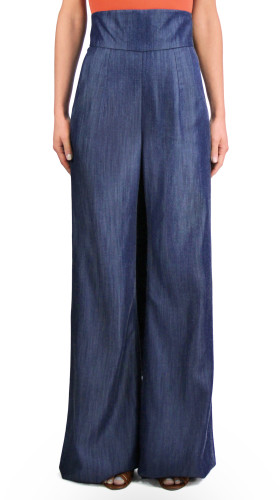 High-Waist Wide-Leg Pant, Girl From Ipanema , Jovan OConnor