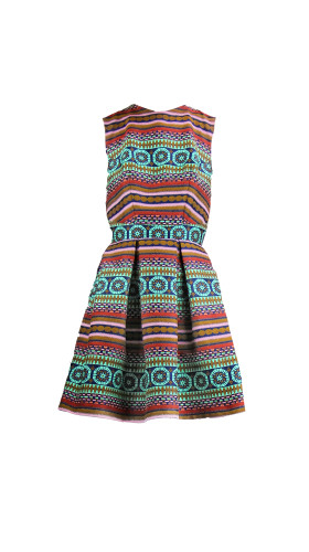 Nineteenth Amendment, , Girl From Ipanema, Pleated Power Dress, DRESS