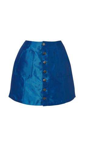 Nineteenth Amendment, Meghan Hughes, Wild Child, Denim Mini Skirt, SKIRT