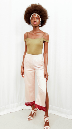Nineteenth Amendment, K.Stevens, MERGE, Tasseled Side-Slit Pant, PANTS
