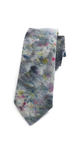 Nineteenth Amendment, , Hand-Dyed, One-Of-A-Kind Neckties, Speckled Grey + Blue Necktie, Accessories