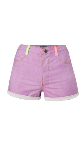 Nineteenth Amendment, , Wild Child, Neon Colorblock Shorts, SHORTS