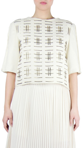 Nineteenth Amendment, Chanho Jang, Modern Baroque, Zipper Weaved Top, SHIRT