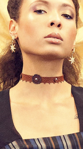 Nineteenth Amendment, , I Am Mystic, Skinny Flower Choker, Jewelry