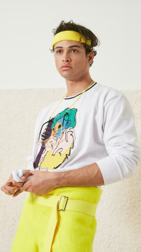 Nineteenth Amendment, Adam Dalton Blake, S/S18: FIFTEEN, LOVE!, Chainstitch Embroidered LIFEWTR Sweatshirt, TOP