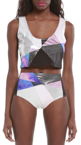 Nineteenth Amendment, , Holographic, Luxe Bikini Bottom, SWIM
