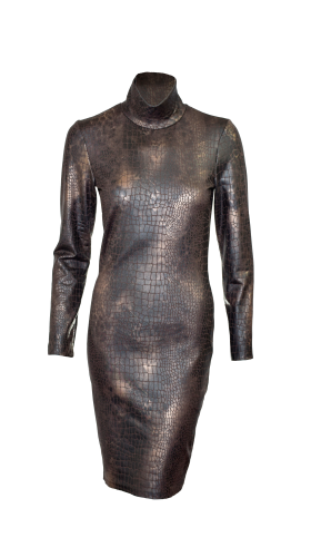 Nineteenth Amendment, , Animal Attraction-Part 1, Knit Snakeskin Dress, DRESS
