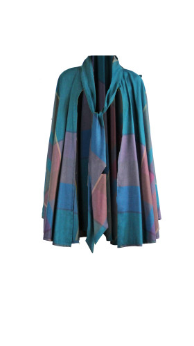Nineteenth Amendment, , Mahogany, Plaid Cape, OUTERWEAR