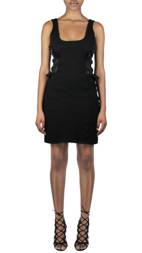 Nineteenth Amendment, Meghan Hughes, Spellbound, Black Mixed Media Dress, DRESS