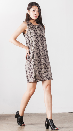 Nineteenth Amendment, , Second Skin Cubed Rtw, Snake Skin Dress, DRESS