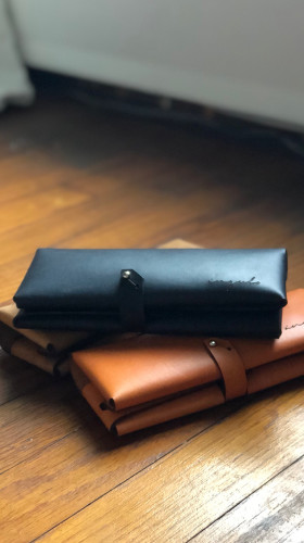 Nineteenth Amendment, , Ángulo, [ milano ] Leather Wallet [ Orange ], Accessories