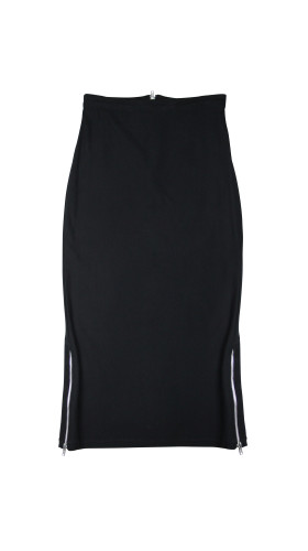 Nineteenth Amendment, , Spring/Summer 2015, Black Midi Skirt, SKIRT