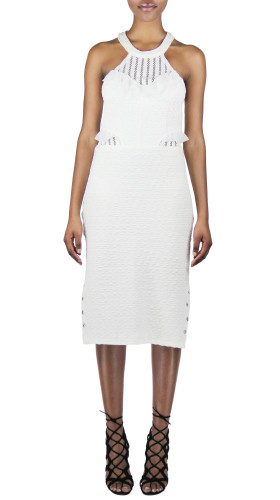 Nineteenth Amendment, Meghan Hughes, Spellbound, White Mixed Media Dress, DRESS