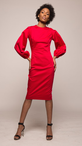 The Bishop Midi Dress, Love Divine , T I E N A