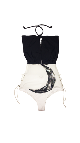 Nineteenth Amendment, Rosina Mae, Lunar, Crescent Moon-Suit Monokini, SWIM