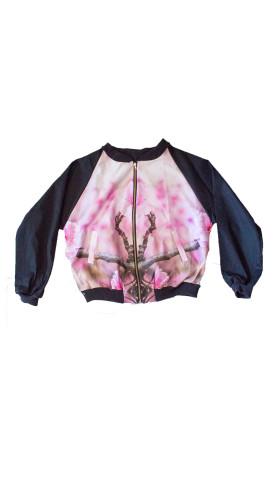 Nineteenth Amendment, Kaer, Unisex urban nature bomber jackets, Unisex Sakura Bomber, OUTERWEAR