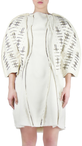 Nineteenth Amendment, , Modern Baroque, Zipper Weaved Jacket, OUTERWEAR