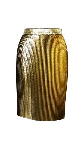 Nineteenth Amendment, , Modern Baroque Rtw Part 2, Gold Wrap Skirt, SKIRT