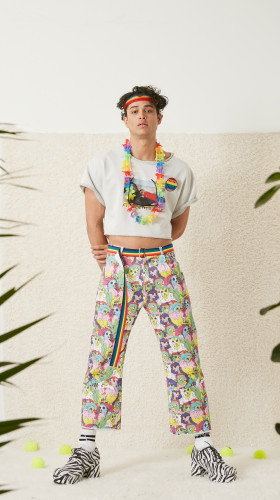 Nineteenth Amendment, , S/S18: Fifteen, Love!, LIFEWTR Printed Jeans, PANTS