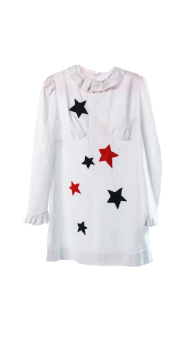 Nineteenth Amendment, THIS IS SLOANE, COLLECTION 5 - MINI CAPSULE, STAR APPLIQUE White Sparky Mini Dress, DRESS