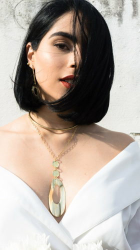 Nineteenth Amendment, , Curva Collection, Circular Chain Necklace, Jewelry