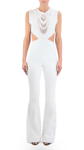Nineteenth Amendment, , Girl From Ipanema, Crochet Bibbed Jumpsuit, JUMPER