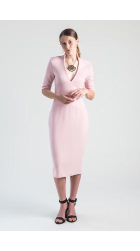 Nineteenth Amendment, VARYFORM, Moon Garden, Venus V-Neck Stretch Wool Dress, DRESS