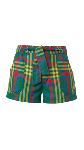 Nineteenth Amendment, Meghan Hughes, Wild Child, Green Plaid Shorts, SHORTS