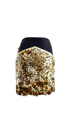 Nineteenth Amendment, , Animal Attraction-Part 1, Leopard Faux Fur Skirt, SKIRT