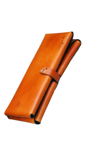 Nineteenth Amendment, , Ángulo, [ palma ] Leather Clutch [ Orange ], Accessories