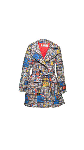 Nineteenth Amendment, , Starry Nights Coat, Mondrian Madness Trench, OUTERWEAR