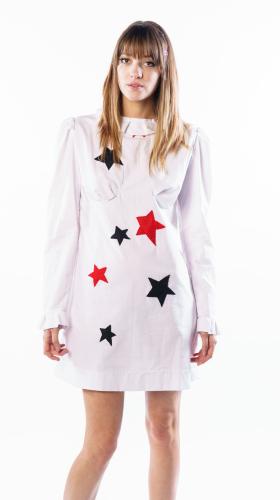 Nineteenth Amendment, , Collection 5 - Mini Capsule, STAR APPLIQUE White Sparky Mini Dress, DRESS