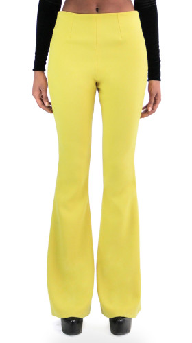 High-Waisted Flared Pants, Mahogany , Jovan OConnor