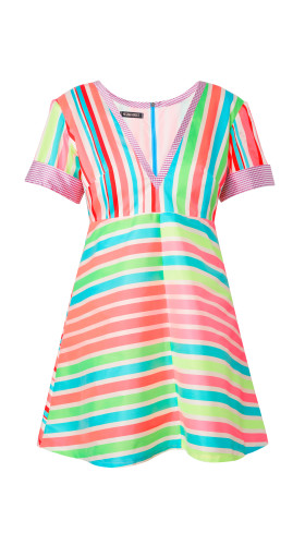 Nineteenth Amendment, , Wild Child, Mixed Stripe Dress, DRESS