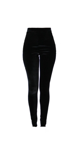 Nineteenth Amendment, , Velvet Underground, Black Velvet Leggings, PANTS