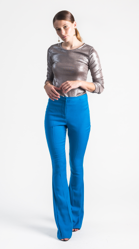 Nineteenth Amendment, , Glow, Phoebe Blue Flare Pant, PANTS