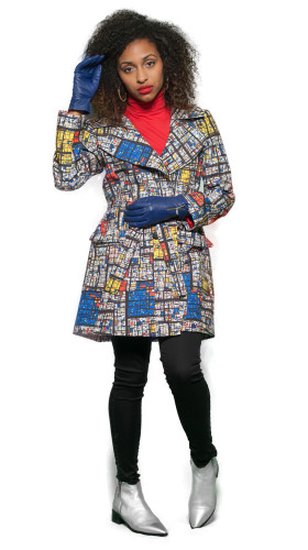 Mondrian Madness Trench, Starry Nights Coat , Pariah5k