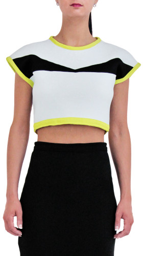 Nineteenth Amendment, , Spring/Summer 2015, Neo Crop Top, SHIRT