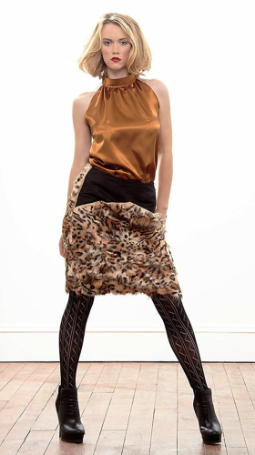 Nineteenth Amendment, ms.jaxn, Animal Attraction-Part 1, Leopard Faux Fur Skirt, SKIRT