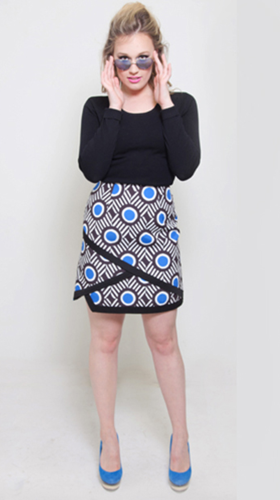 Nineteenth Amendment, , Mod Squad, Blue Eye Skirt, SKIRT