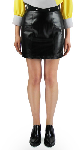 Nineteenth Amendment, , Starstruck, Star Leather Mini Skirt, SKIRT