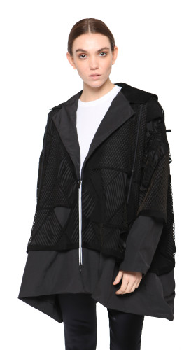 Nineteenth Amendment, , Rein 2.0, Leather Small Mac Jacket, OUTERWEAR