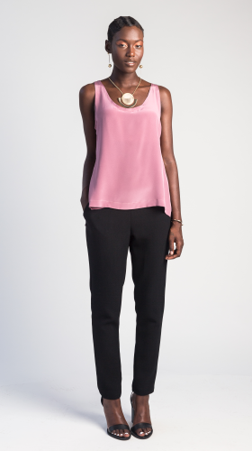 Nineteenth Amendment, , Glow, Pink Celina Silk Shell Tank, SHIRT