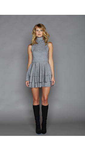 Nineteenth Amendment, , Fall- Winter 2016, Sofia Grey Dress, DRESS